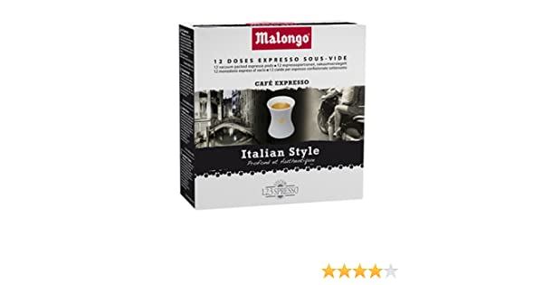 Malongo Italian Style – 12 monodosis: Amazon.es: Hogar