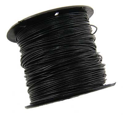0.5mm Black Leather Cord - 10 Yards (9.14 meter) CR0050BLK-10