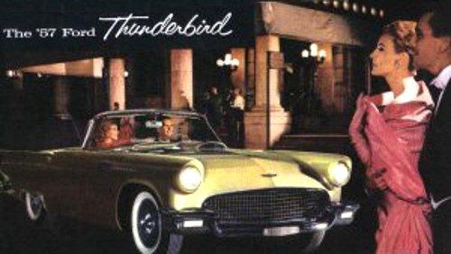- 1957 FORD THUNDERBIRD BEAUTIFUL DEALERSHIP SALES BROCHURE - ADVERTISMENT - OPTIONS - ACCESSORIES TBIRD 57