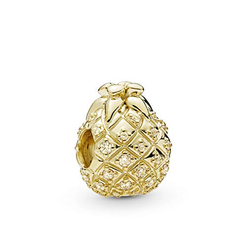 PANDORA Golden Pineapple 18k Gold Plated PANDORA Shine Collection Charm - 767904CCZ