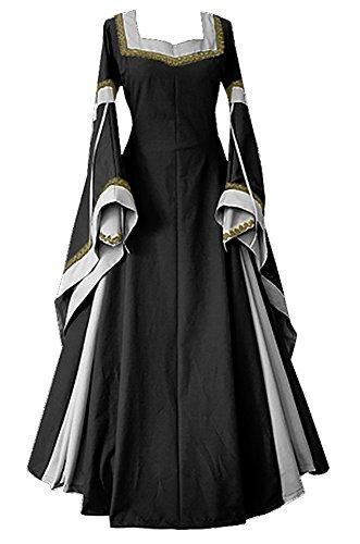 BBalizko Renaissance Medieval Irish Costume Over Dress Medieval Dress Gothic (Irish Costume)