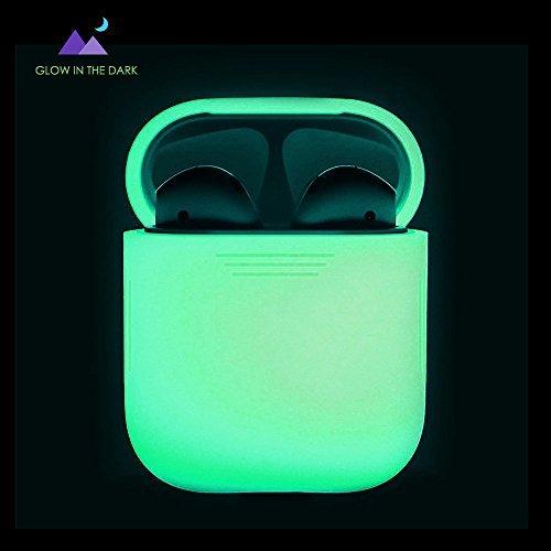 Carcasa de silicona cubierta protectora para Apple airpods Prueba de Golpes , Night Glow