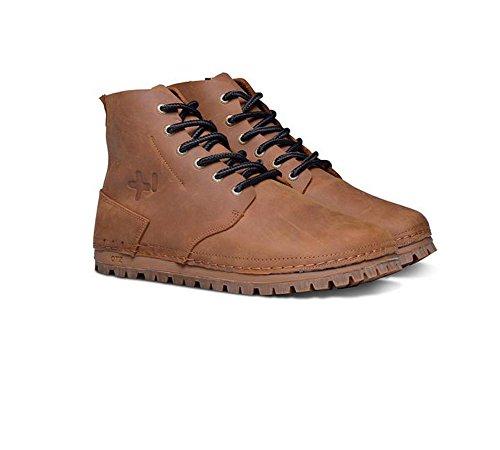 Zapatos Otz Para Hombre Brogan Vibram Leather Bota Camel