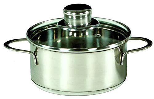 Karl Kruger Saturn Series Casserole Mini Pot with Glass Lid, 14 cm