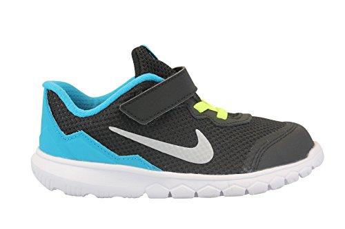 Nike Flex Experience 4 (TDV) Zapatillas, Bebé-niños Negro / Plateado / Blanco (Black / Mtllc Silver-Bl Lgn-Wht)