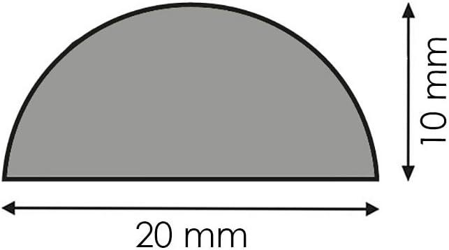 Halbrundstab Bastelstab Bastelleiste Abdeckleiste Abschlussleiste aus unbehandeltem Kiefer-Massivholz 2400 x 10 x 20 mm