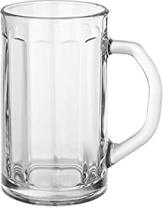 Circleware Glass Beer Mugs with Handle, Set of 4 Heavy Base Fun Entertainment Glassware Beverage Drinking Cups for Water, Wine, Juice and Bar Dining Decor Novelty Gift, 16.4 oz, Downtown Pub 4pc (B07BH7L8P3) | Amazon price tracker / tracking, Amazon price history charts, Amazon price watches, Amazon price drop alerts