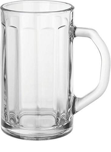 - Circleware 55673 Glass Beer Mugs with Handle, Set of 2 Heavy Base Fun Entertainment Glassware Beverage Drinking Cups for Water, Wine, Juice and Bar Dining Decor Novelty Gift, 16.4 oz, Downtown Pub 2pc
