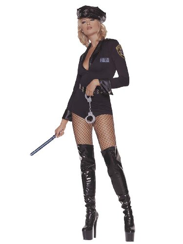 Police Sergeant Sexy Cop Adult 5 Piece Theatre Costumes Small-Medium Sizes: (Good Cop Bad Girl Costume)