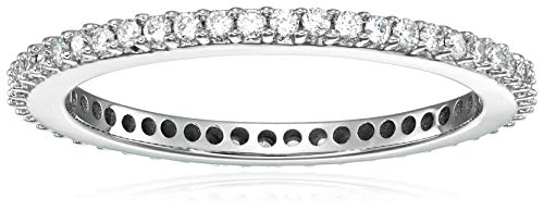 (Vir Jewels 1/2 cttw Diamond Eternity Ring 14K White Gold Wedding Band Size 6)