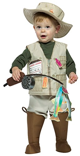Future Fisherman Child Costumes - UHC Baby Boy's Future Fisherman Outfit Funny Theme Infant Halloween Costume, 18-24M