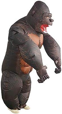 baoblaze drôle Gros adulto disfraz inflable gorila disfraz para ...