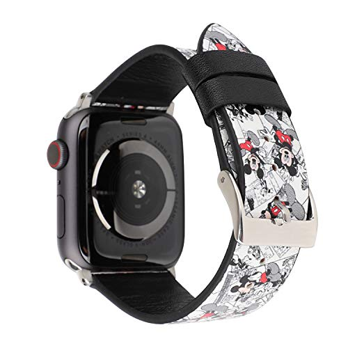 Lovely Style Watch Band Strap Cute Dressy Leather Wristband Bracelet Compatible with 40mm 38mm Apple Watch Series 4/3/2/1 (White)