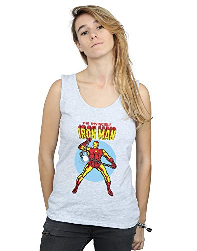 Deporte The Marvel Invincible Camiseta Iron Gris Universe Sin Mujer Man Mangas nPPzH