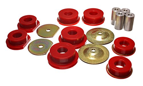 Energy Rear Bushings Suspension Dodge (Energy Suspension 5.4114R Sub-Frame Bushing Set Red Rear Performance Polyurethane Sub-Frame Bushing Set)