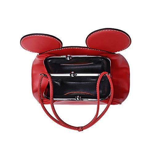 Red AJLBT De épaule Main à Mignon Mouse Mickey Dames Sac Clip Chaîne Sac Mini Une qZwUqr65