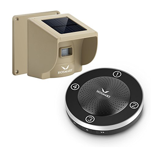 Great Deal! 1/4 Mile Hosmart Rechargable Driveway Alarm Wireless Sensor System & Driveway Sensor Ale...