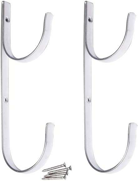 Daveyspa Swimming Pool Aluminum Pole Hanger Set Premium Aluminium Holders Pack of 2,for for Telescoping Poles, Leaf Rakes, Skimmers, Nets, Brushes, Vacuum Hoses and Garden Tools