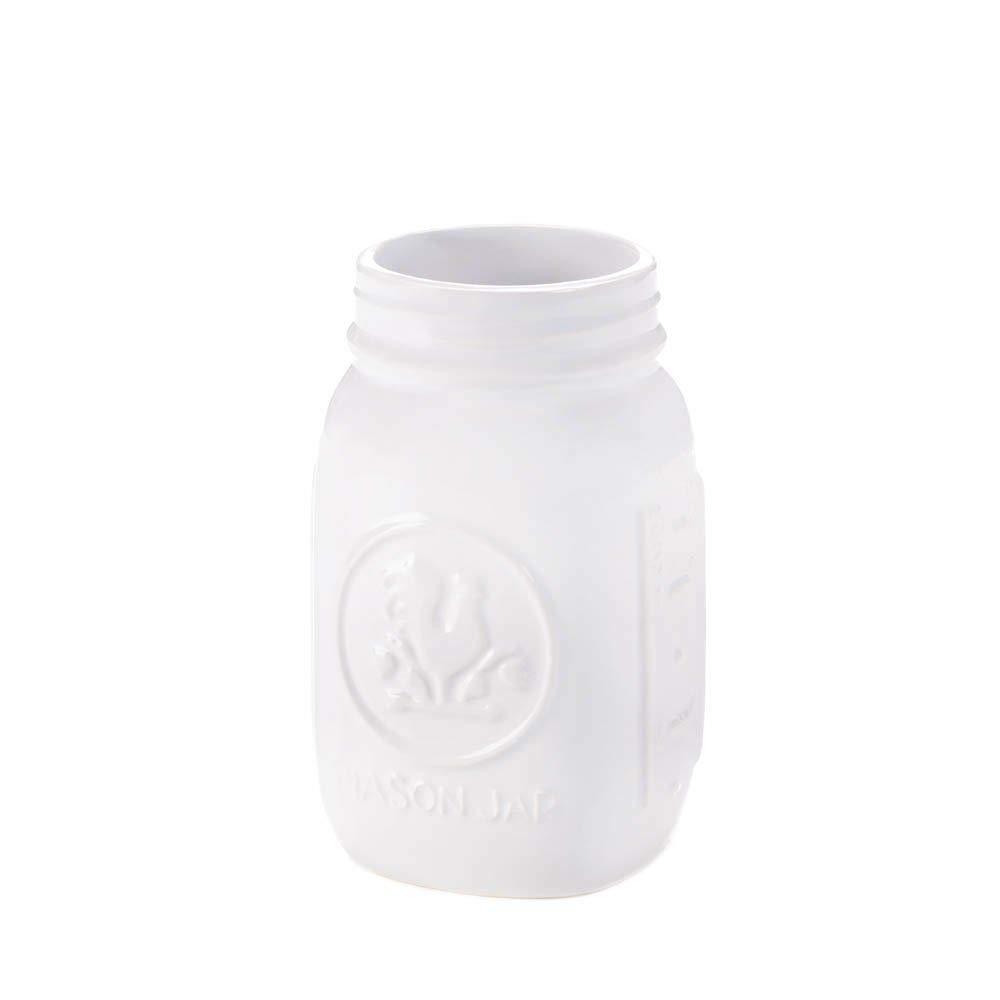 Tuweep Decorative Mason Jar, Dolomite Mason Jars Regular Mouth Containers - White