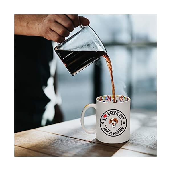 Ceramic Christmas Coffee Mug I Love My Ariege Pointer Dog Style A Funny Tea Cup 5