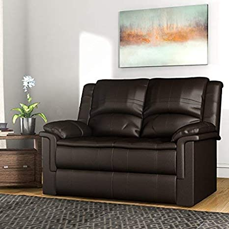 Forzza Ryan 2 Seater Recliner Sofa Brown PU