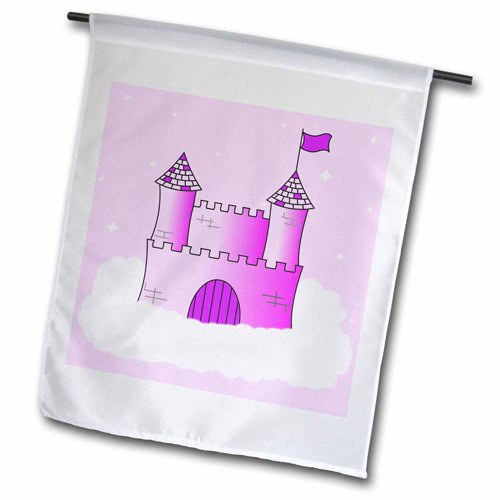 3dRose fl_24630_2 Pink and Purple Princess Castle in The ...