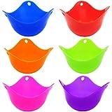 6 Pcs Silicone Egg Poachers Cups, SENHAI BPA Free Egg Mold Egg...