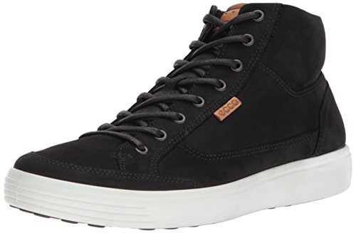 - ECCO Men's Soft 7 High-top Sneaker ,Black,42 M EU (8-8.5 US)