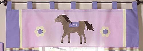 Sweet Jojo Designs Pretty Pony Horse Window Valance