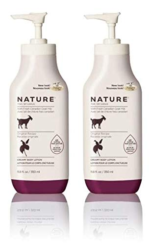 Canus Nature Moisturizing Body Lotion (Pack of 2) with Goat Milk and Soybean Oil, 11.8 oz. ()