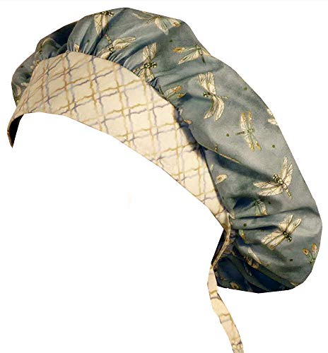 - Designer Bouffant Medical Scrub Cap - Tranquility Dragonflies