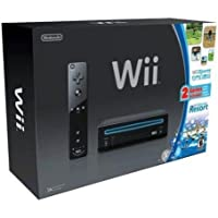 Nintendo Wii Console Black with Wii Sports and Wii Sports...