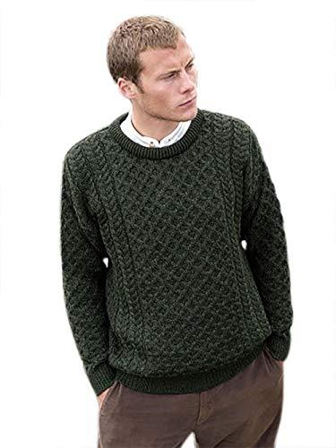 West End - The Irish Store - Irish Gifts from Ireland Merino Wool Unisex Crew Neck Sweater (XX-Large) ()