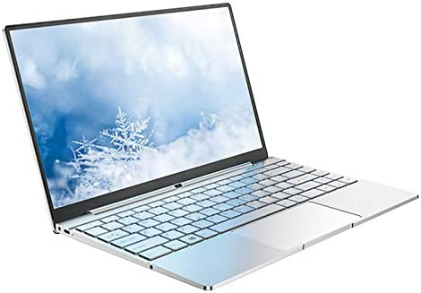 "Daysky V14S Laptop, 14.1"" Full HD IPS Display, Intel Apollo N3450 Processor, 8GB DDR4 RAM 128GB SSD Thin and Light Computer, Backlit Keyboard, Full Metal Body, Windows 10, USB 3.0, Type C, Silver"