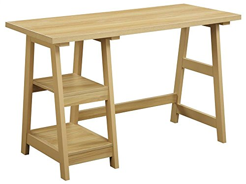 Light Oak Desk (Convenience Concepts Designs2Go Trestle Desk, Light Oak)