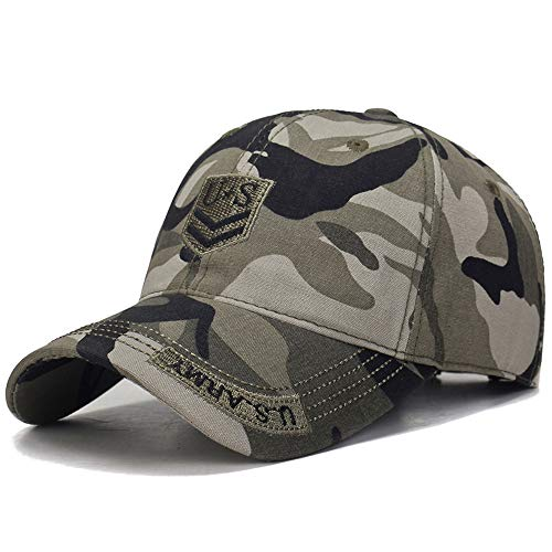Calboom US Army Hats for Men Tactical Embroidered Washed Cotton Baseball Cap ()
