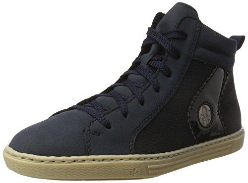 Rieker L0948, Sneakers Hautes Femme, Bleu, 36 EU Bleu (Pazifik/Pazifik/Marine/Altsilber)