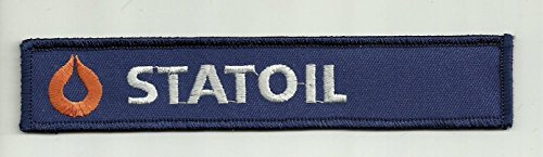1 1 8  X 6 1 4  Statoil Company Logo Gas Oil Company Name Tag Embroidered Patch