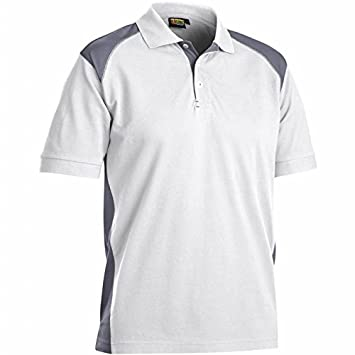 Blakläder 3324105010944 X L camisa polo talla 4 X L blanco/gris ...