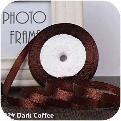 kawayi-桃 25ヤード/ロールグログランサテンリボン結婚式のクリスマスパーティーの装飾6mm-40mm DIY弓クラフトリボンカードギフト-Dark Coffee-25mm
