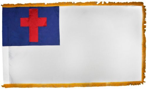 3 ft. x 5 ft. Christian Flag -Indoor/Parade With Pole Sleeve