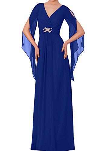 Royalblau Promkleider Rot Chiffon Elegant Lang Neu Partykleider Ivydressing 2017 Abendkleider BzvPqczwU