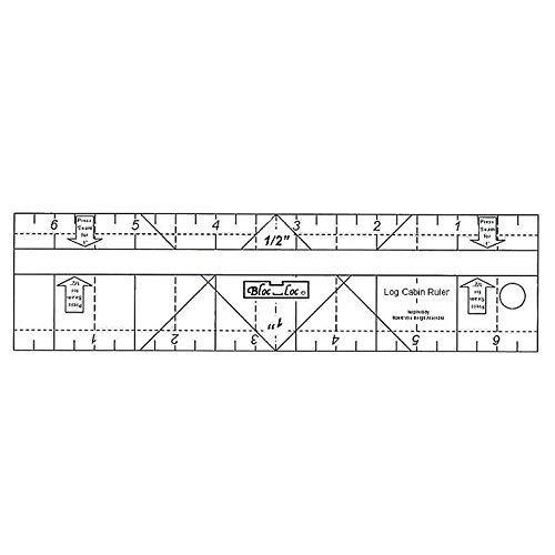 Log Cabin Ruler 1/2