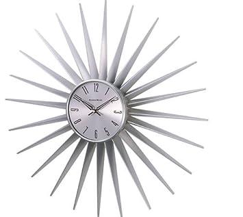 telechron sunburst clock silver