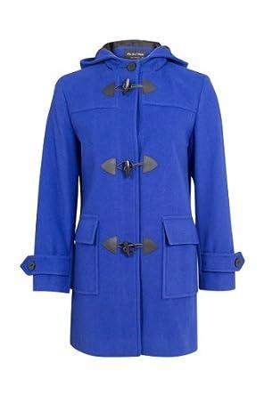 De La Creme - Royal Blue Womens Wool &amp Cashmere Winter Hooded