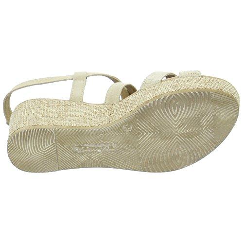 Tamaris 1-1-28341-28/390 - Sandalias de vestir de Piel para mujer NATURE/GOLD