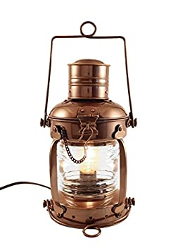 Vermont Lanterns – Electric Nautical Brass Anchor Lamp 12 , Antique Brass