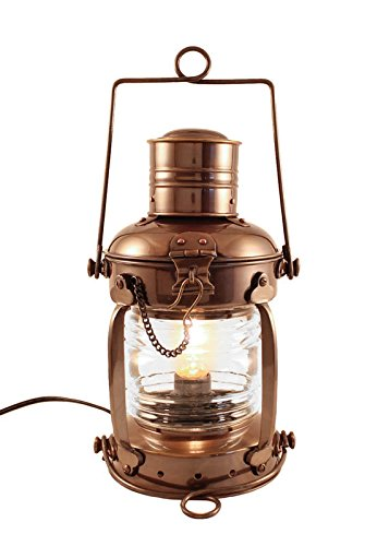 - Vermont Lanterns - Electric Nautical Brass Anchor Lamp (12