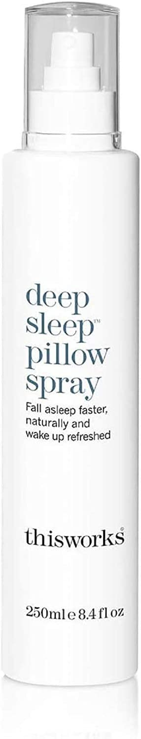 ThisWorks Deep Sleep Pillow Spray, 250 ml - Natural Sleep Aid with Essential Oils of Lavender, Vetivert and Camomile, 8.4 Fl Oz