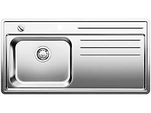 BLANCO STRATO PRO-IF - Fregadero (Acero inoxidable, 1 bowls, 420 x 340 mm, 17,5 cm, 1000 mm, 175 mm)